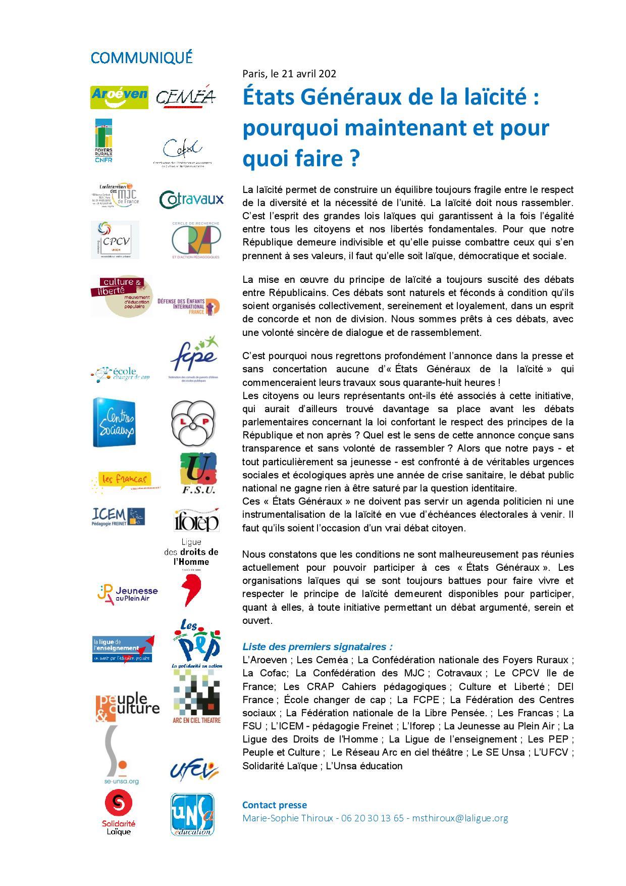 Communique Etat Generaux Du 21 Avril 2021 (1) Page 001